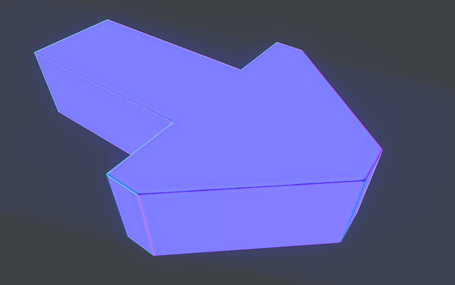 LowPoly Gizmo - Pointing Arrow royalty-free 3d model - Preview no. 3