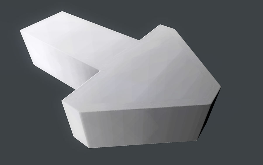 LowPoly Gizmo - Pointing Arrow royalty-free 3d model - Preview no. 2