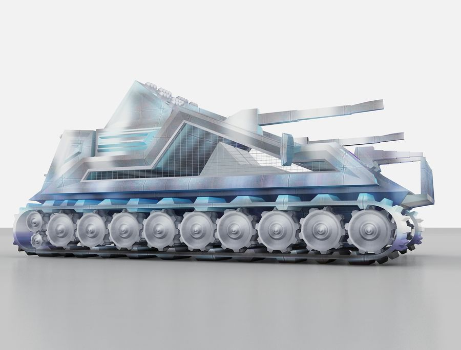 vehicle tank royalty-free 3d model - Preview no. 9