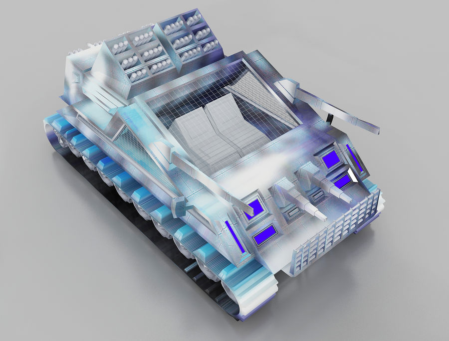 vehicle tank royalty-free 3d model - Preview no. 1