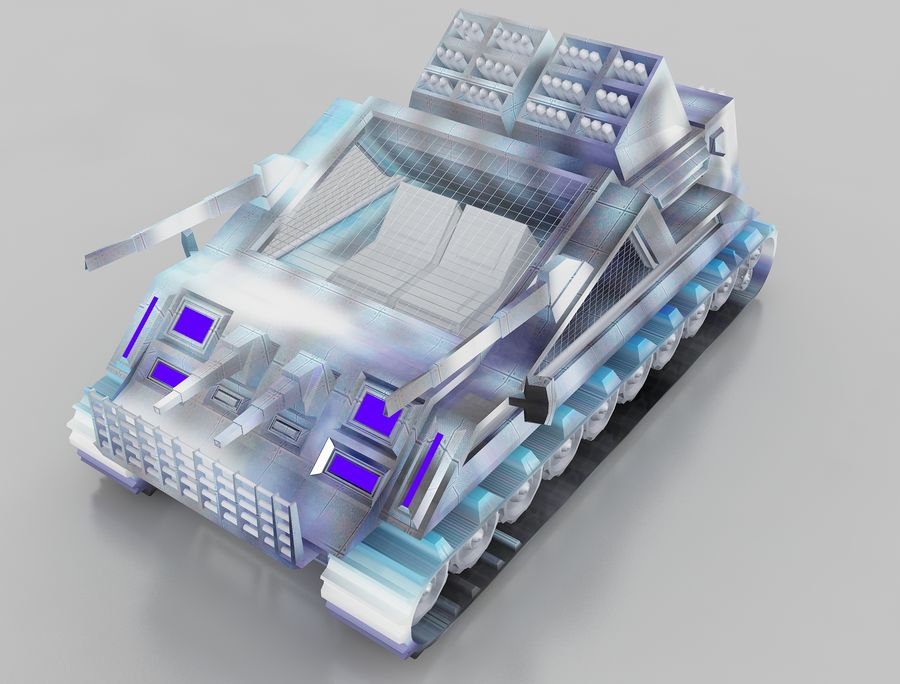 vehicle tank royalty-free 3d model - Preview no. 6