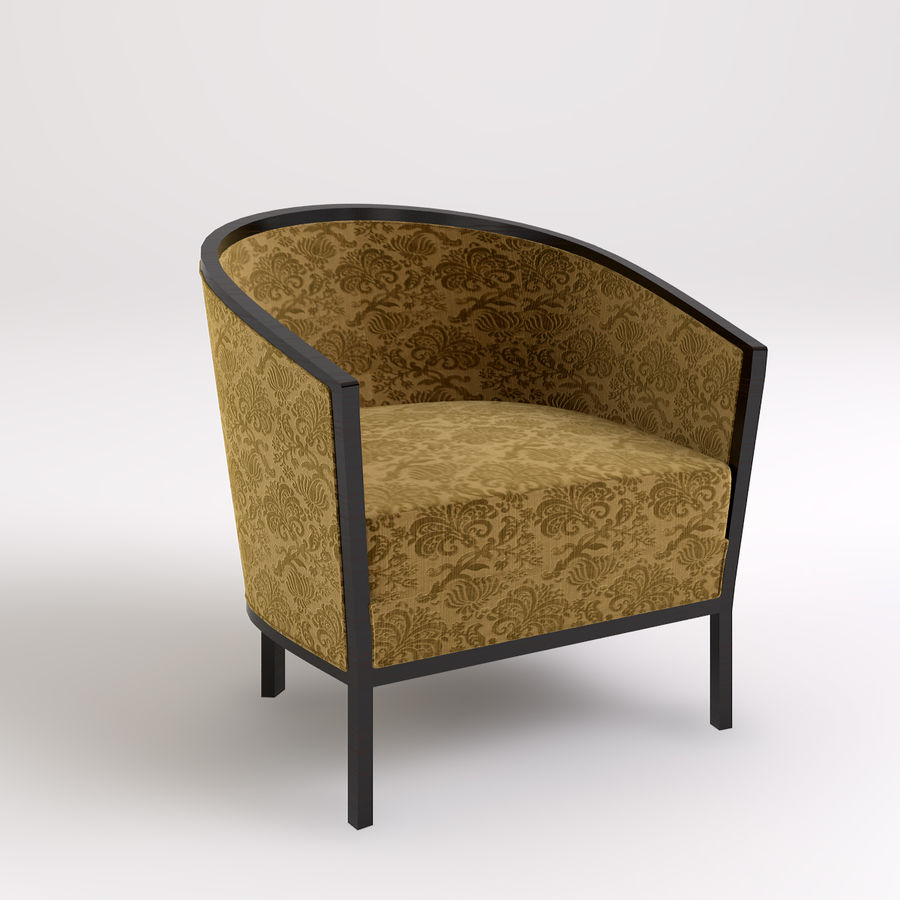 Stolik i krzesła royalty-free 3d model - Preview no. 3