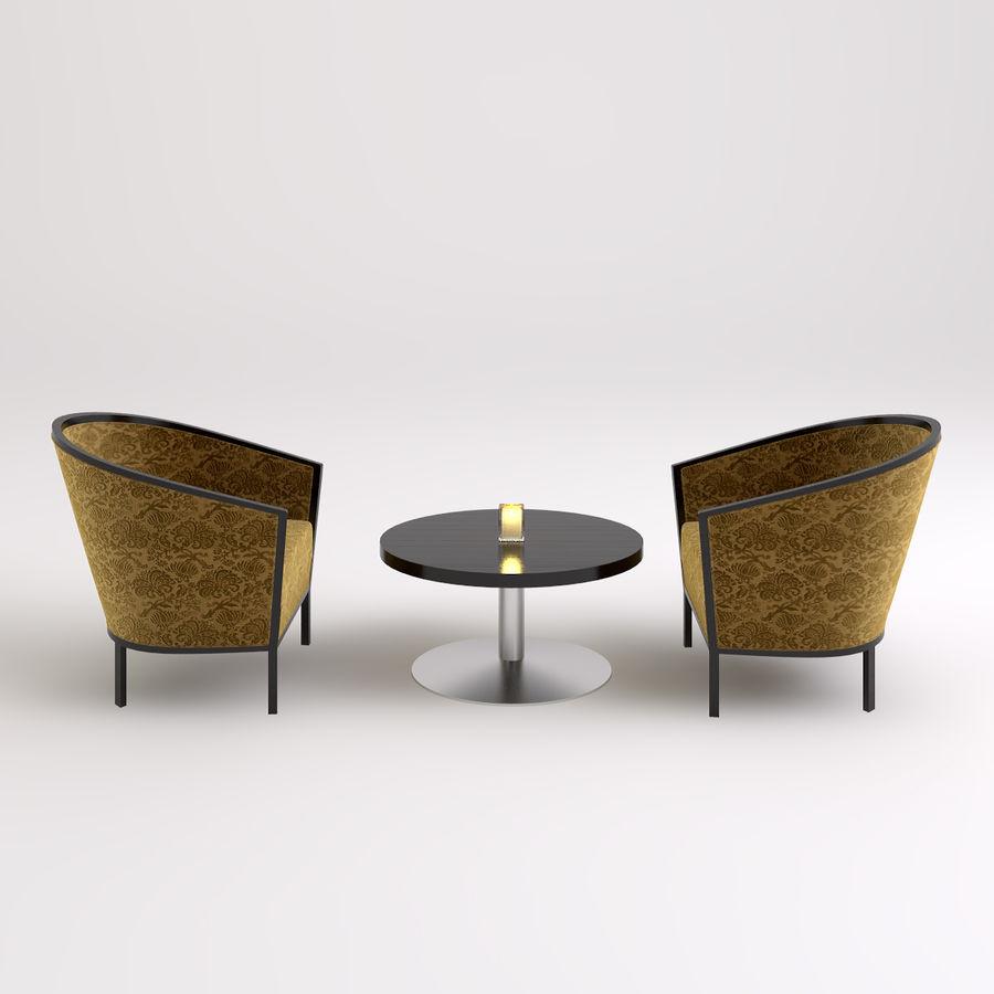 Stolik i krzesła royalty-free 3d model - Preview no. 1