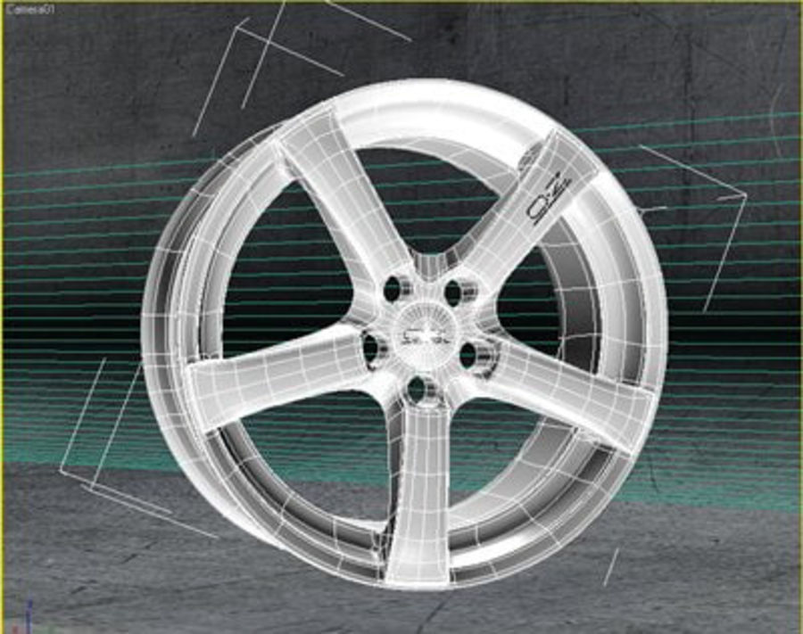 Hydra Racing Wheel royalty-free 3d model - Preview no. 4