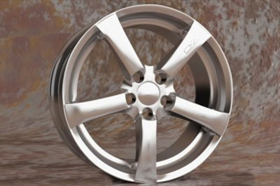 Hydra Racing Wheel royalty-free 3d model - Preview no. 3