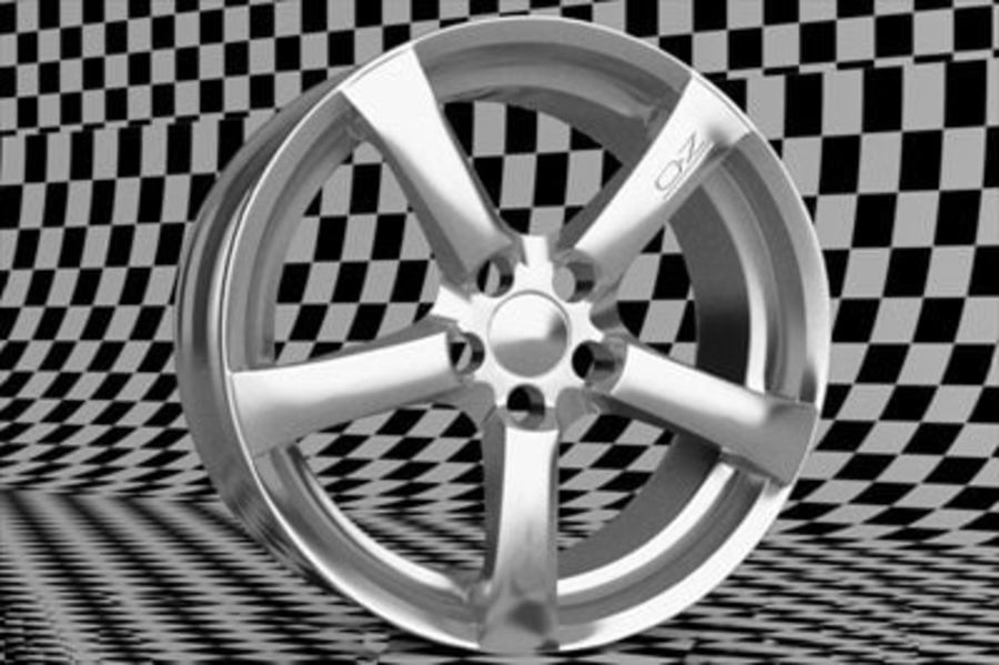 Hydra Racing Wheel royalty-free 3d model - Preview no. 2