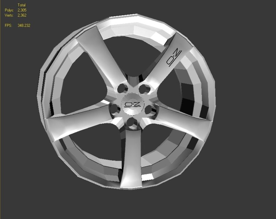 Hydra Racing Wheel royalty-free 3d model - Preview no. 5