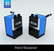 Apontador de lápis manual 3d model