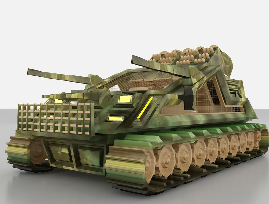 tank vehicle royalty-free 3d model - Preview no. 3