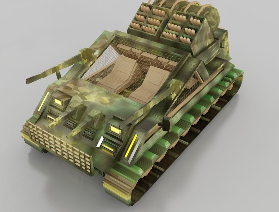 tank vehicle royalty-free 3d model - Preview no. 6