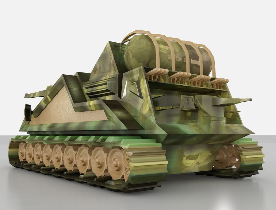 tank vehicle royalty-free 3d model - Preview no. 14