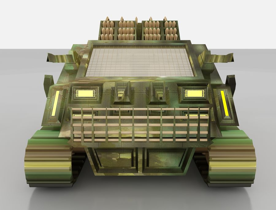 tank vehicle royalty-free 3d model - Preview no. 13