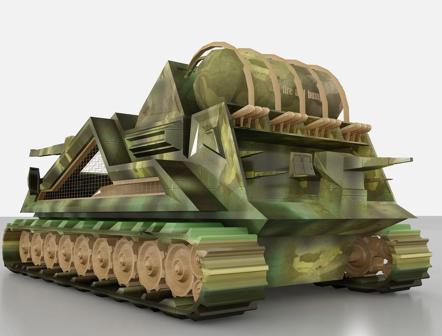 tank vehicle royalty-free 3d model - Preview no. 4