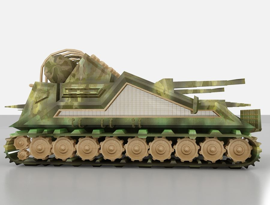 tank vehicle royalty-free 3d model - Preview no. 7