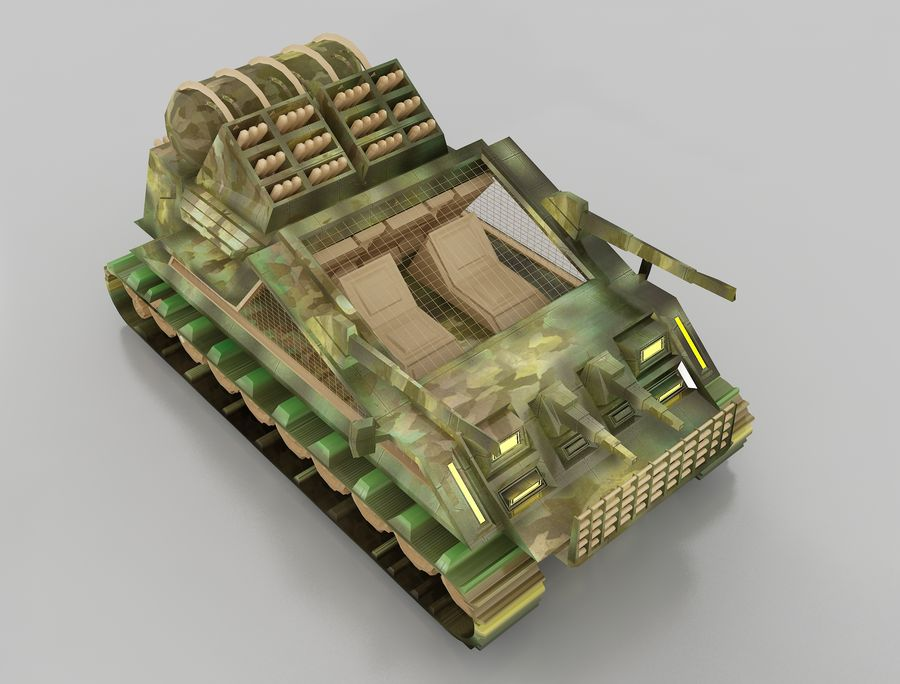 tank vehicle royalty-free 3d model - Preview no. 1