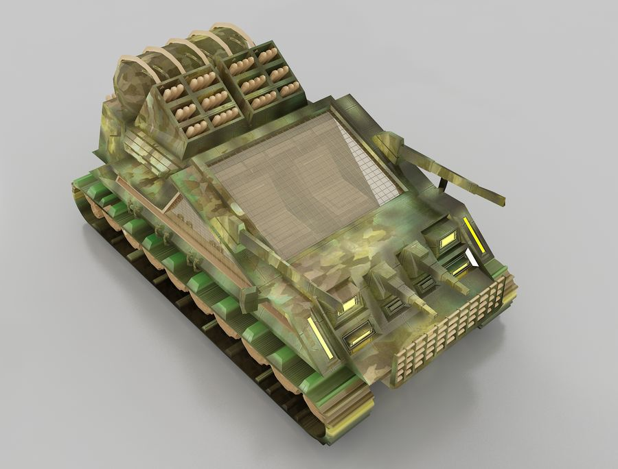 tank vehicle royalty-free 3d model - Preview no. 10