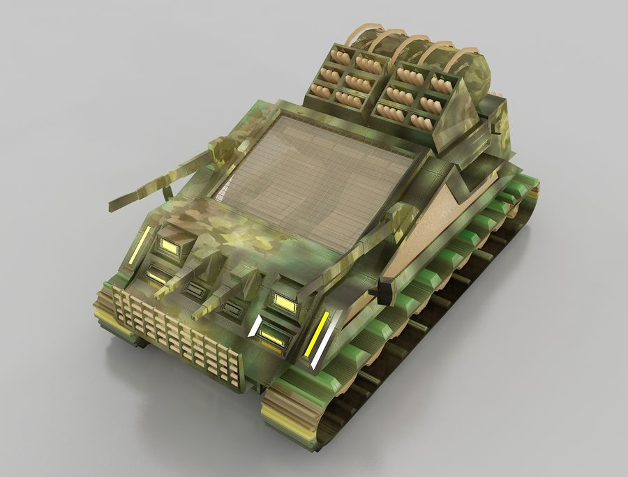 tank vehicle royalty-free 3d model - Preview no. 15