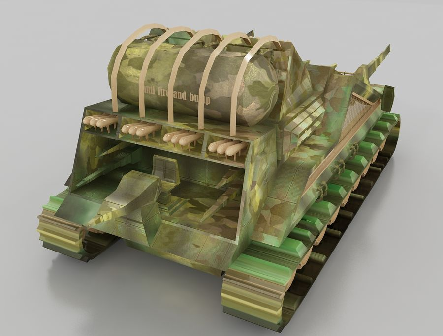 tank vehicle royalty-free 3d model - Preview no. 8