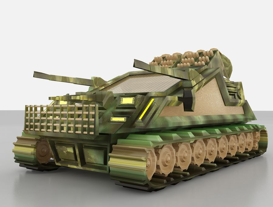 tank vehicle royalty-free 3d model - Preview no. 12