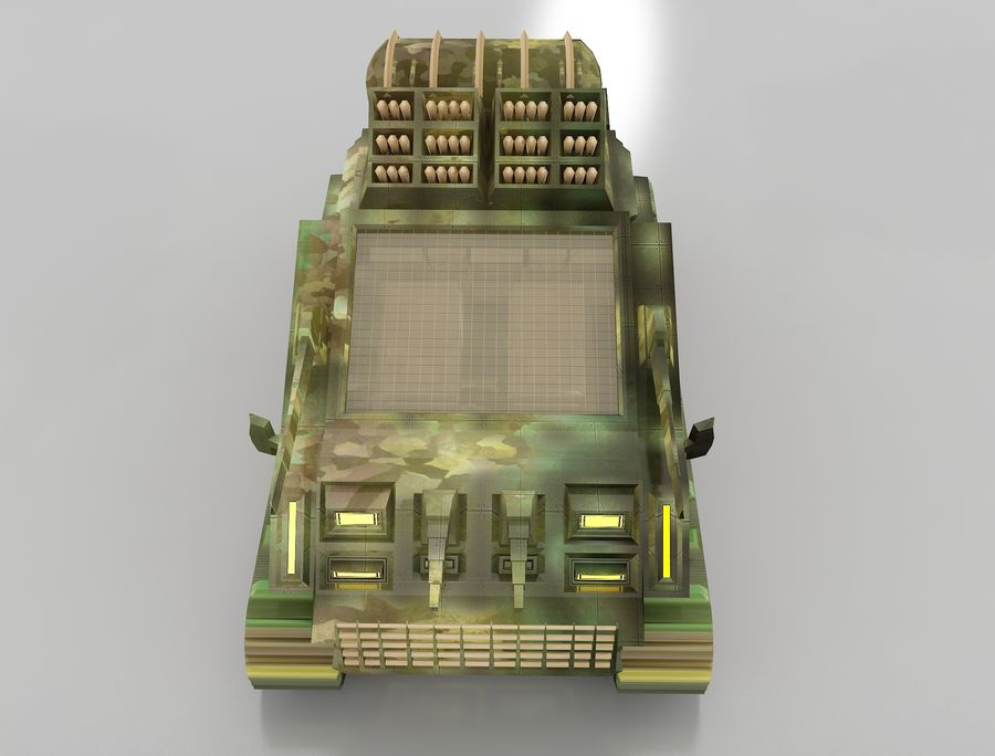 tank vehicle royalty-free 3d model - Preview no. 11