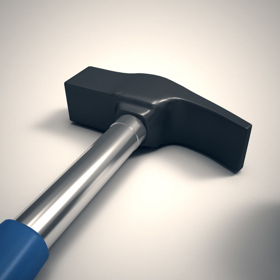 Hammer and mallet royalty-free 3d model - Preview no. 5
