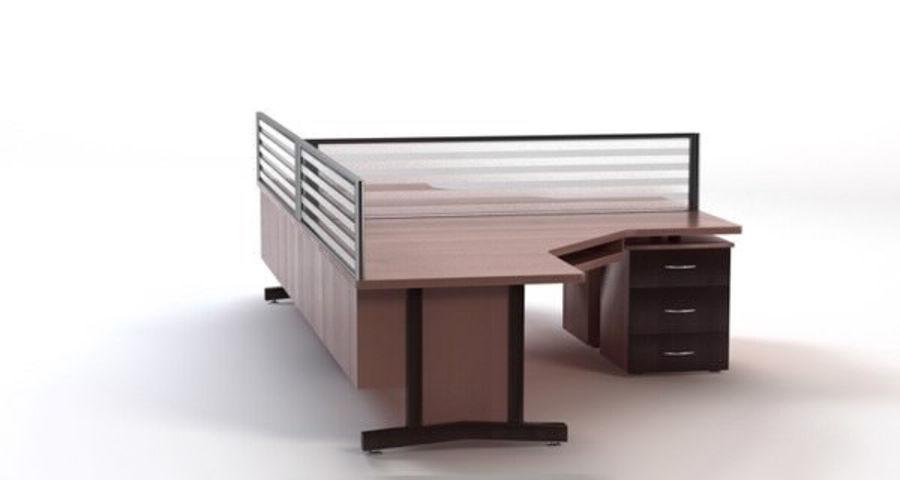 사무용 책상 royalty-free 3d model - Preview no. 5