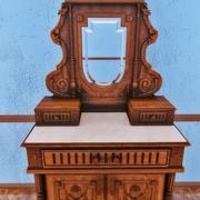带镜子的古典古董家具梳妆台 3d model
