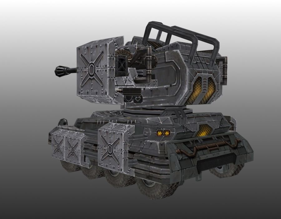 Lowpoly Tank 01 royalty-free 3d model - Preview no. 4