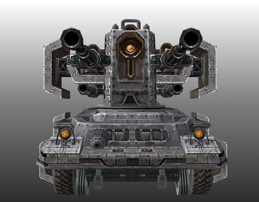 Lowpoly Tank 01 royalty-free 3d model - Preview no. 6