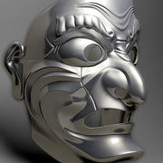 samurai mask 3d model