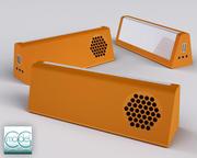pequeña radio portátil modelo 3d