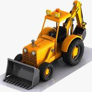 Cartoon Excavator 3 3d model
