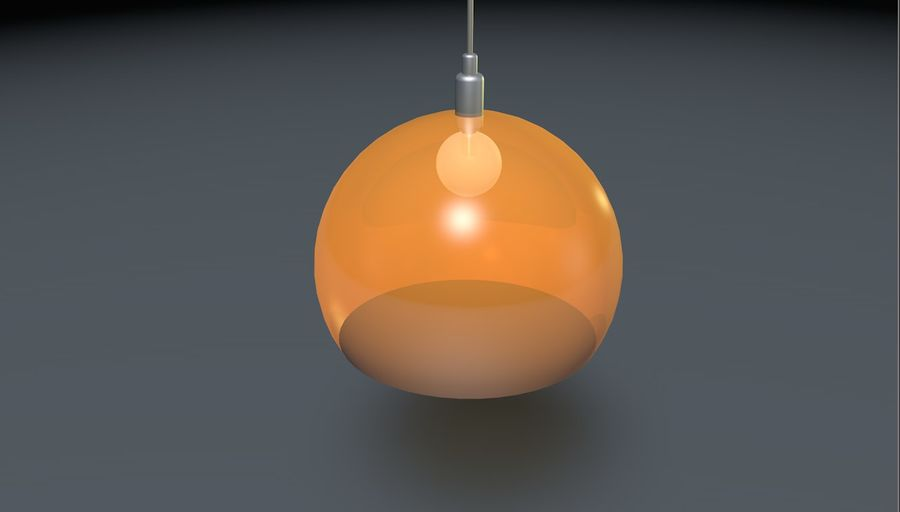 Lampa sufitowa Kartell STYLE FLY, royalty-free 3d model - Preview no. 3