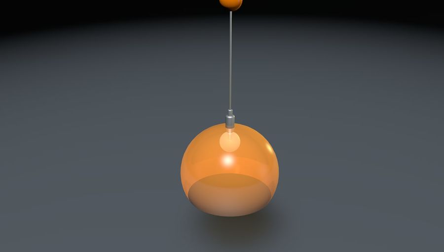 Lampa sufitowa Kartell STYLE FLY, royalty-free 3d model - Preview no. 2