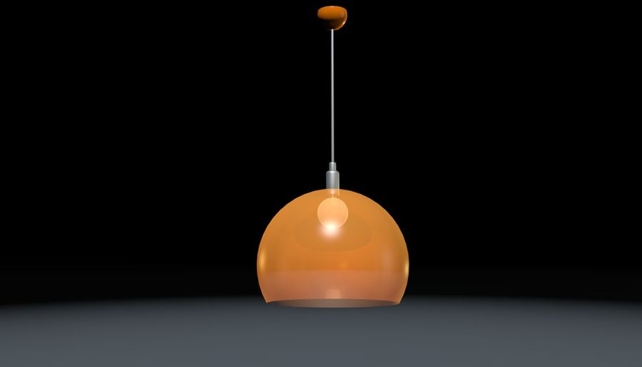 Lampa sufitowa Kartell STYLE FLY, royalty-free 3d model - Preview no. 1