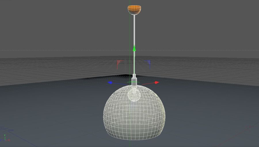 Lampa sufitowa Kartell STYLE FLY, royalty-free 3d model - Preview no. 5
