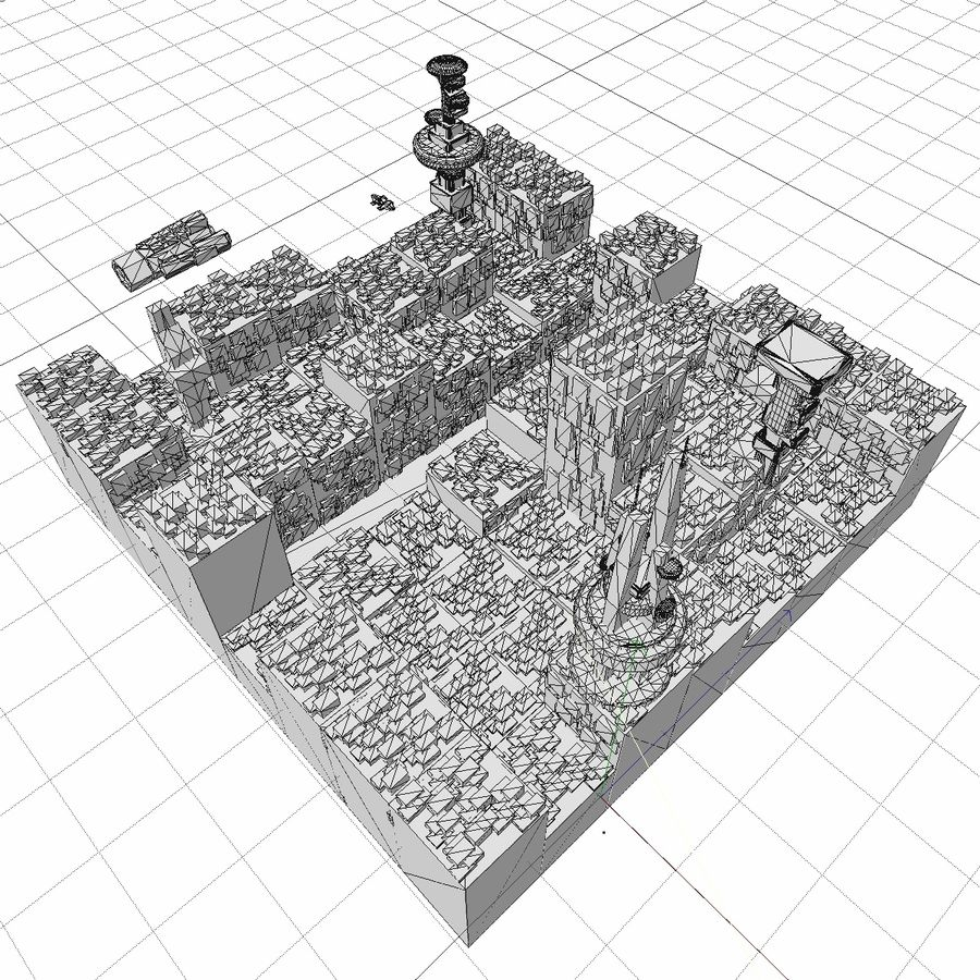 Sci-Fi City royalty-free 3d model - Preview no. 26