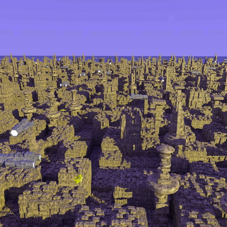 Sci-Fi City royalty-free 3d model - Preview no. 7