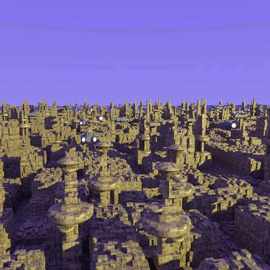 Sci-Fi City royalty-free 3d model - Preview no. 1