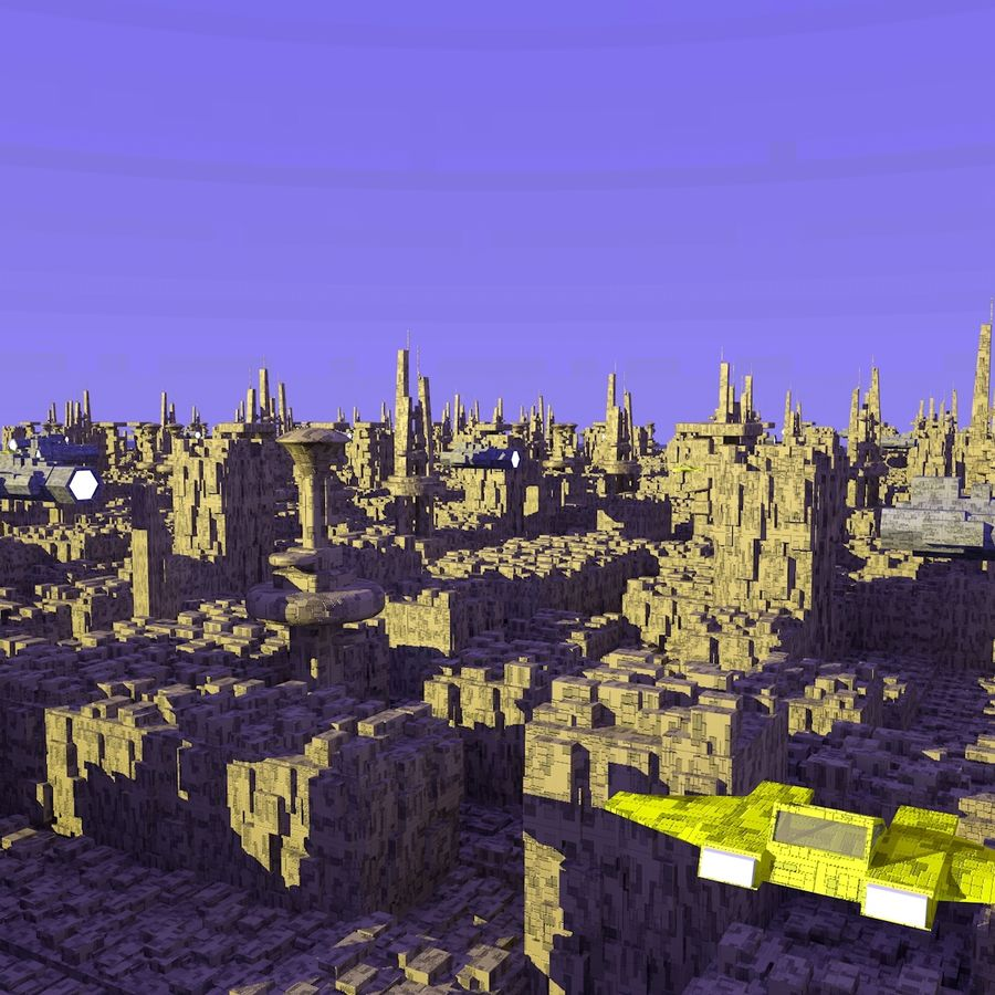 Sci-Fi City royalty-free 3d model - Preview no. 5