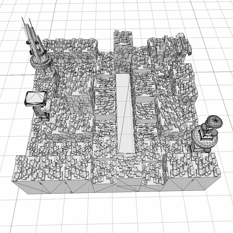 Sci-Fi City royalty-free 3d model - Preview no. 24