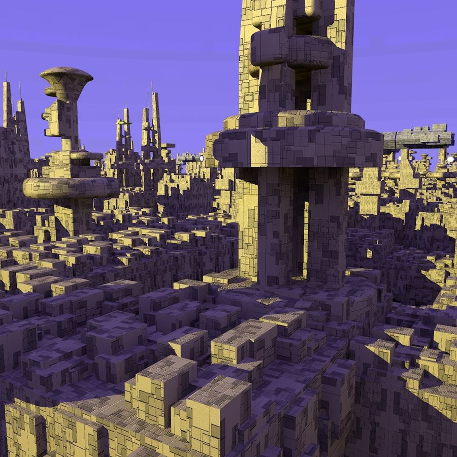 Sci-Fi City royalty-free 3d model - Preview no. 9
