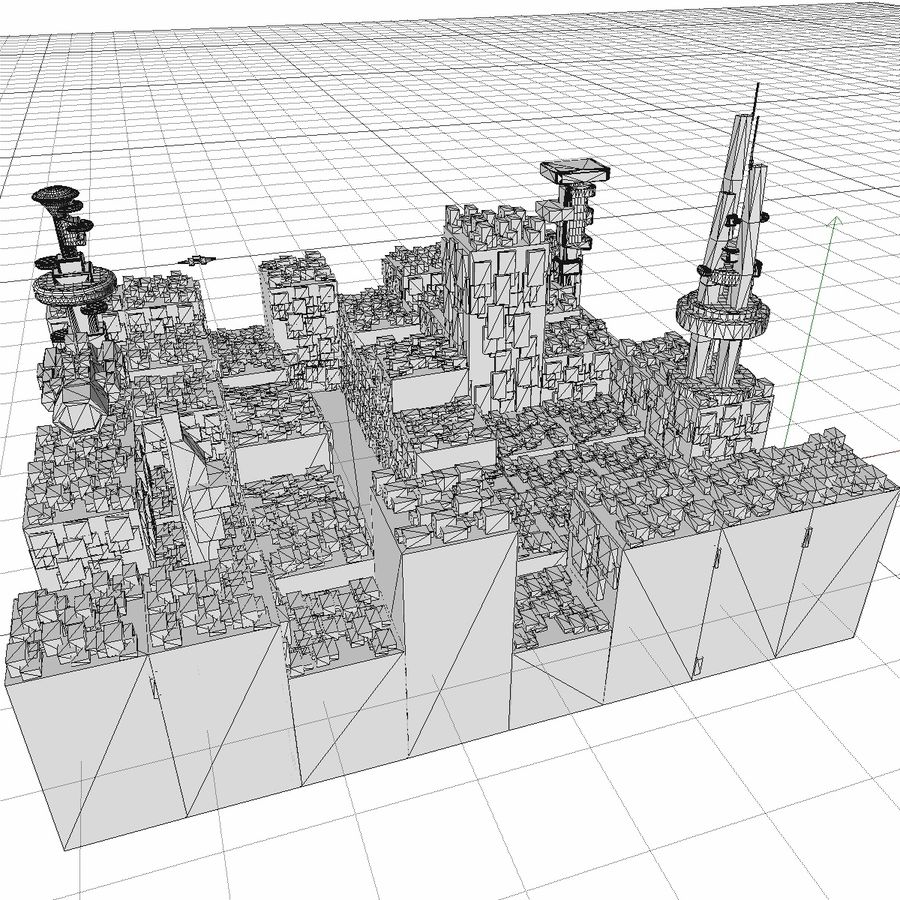 Sci-Fi City royalty-free 3d model - Preview no. 25