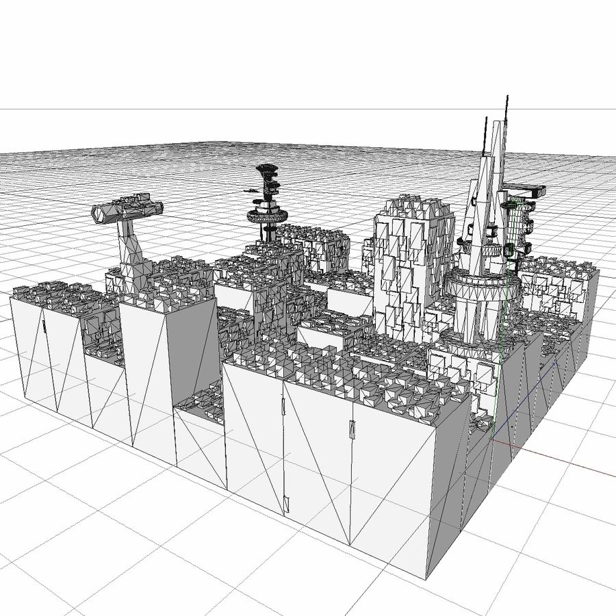 Sci-Fi City royalty-free 3d model - Preview no. 28