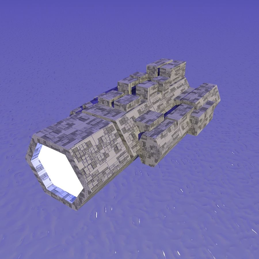 Sci-Fi City royalty-free 3d model - Preview no. 23