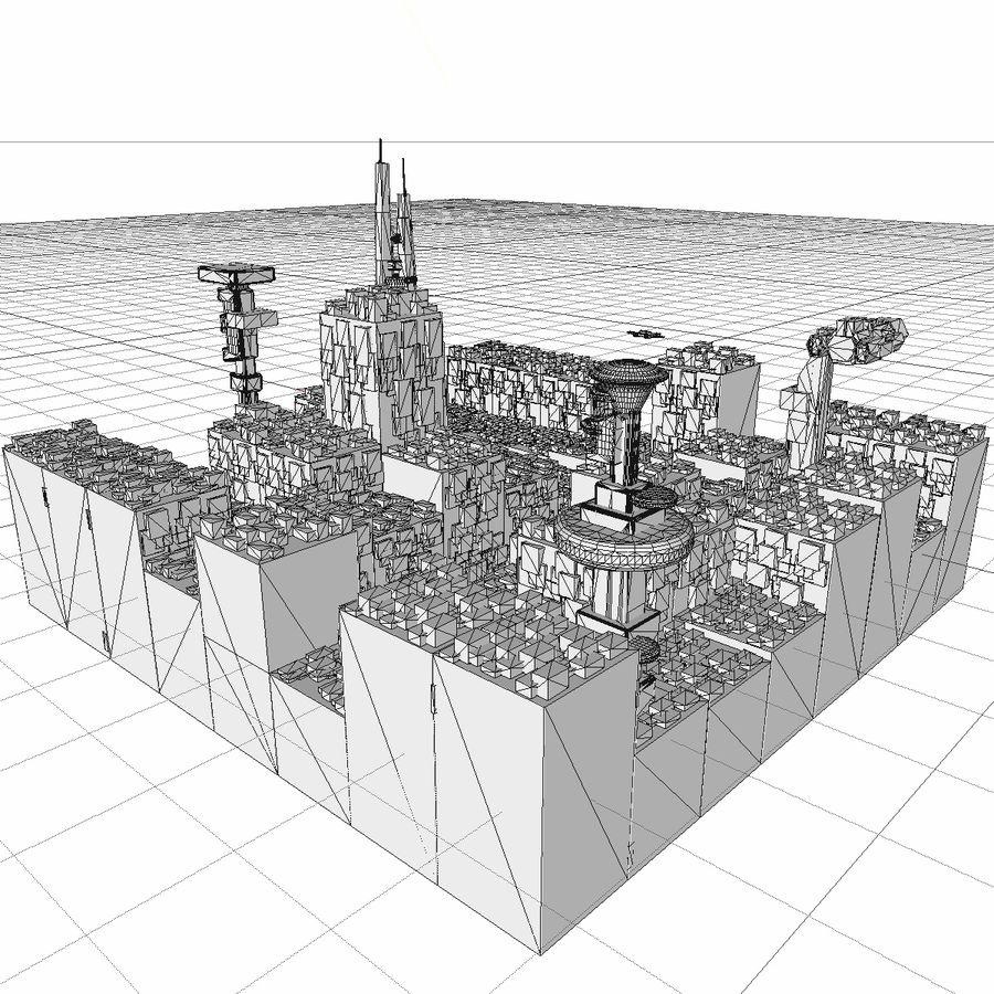 Sci-Fi City royalty-free 3d model - Preview no. 27