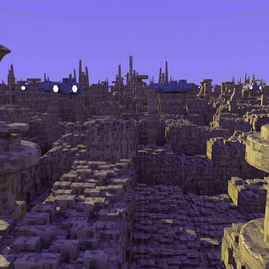 Sci-Fi City royalty-free 3d model - Preview no. 11