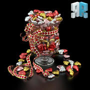 Süßigkeiten Vase 3d model