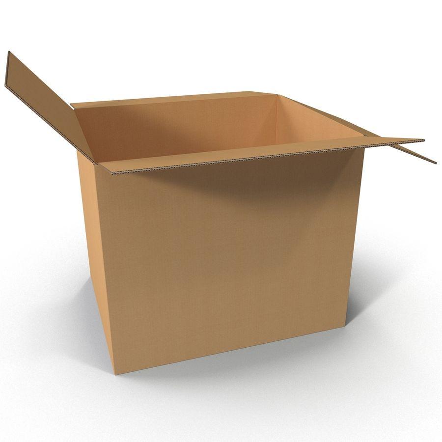 Otwórz karton royalty-free 3d model - Preview no. 7