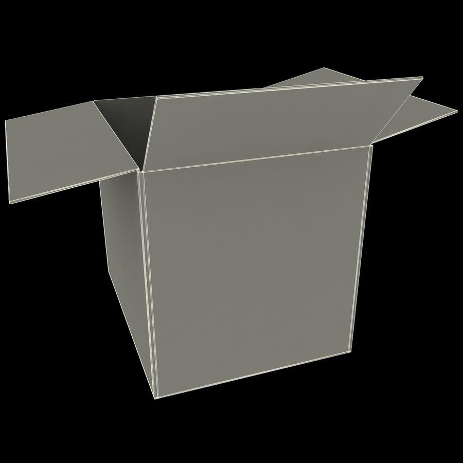 Otwórz karton royalty-free 3d model - Preview no. 12